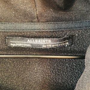 All Saints Sweaters - Allsaints Black Long Ridley Sweatshirt 6